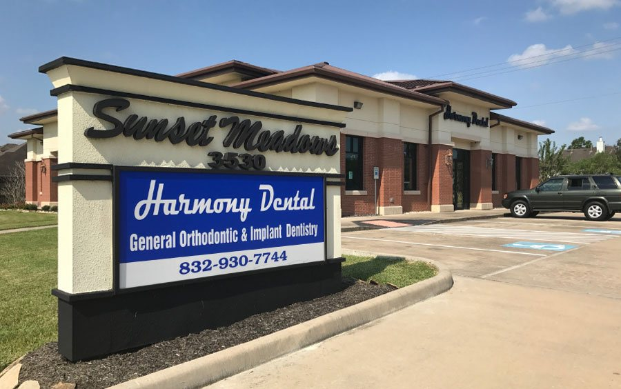 Harmony Dental Welcome Board
